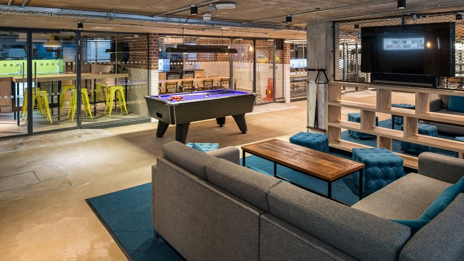 Reading CityBlock Communal Space with Pool Table