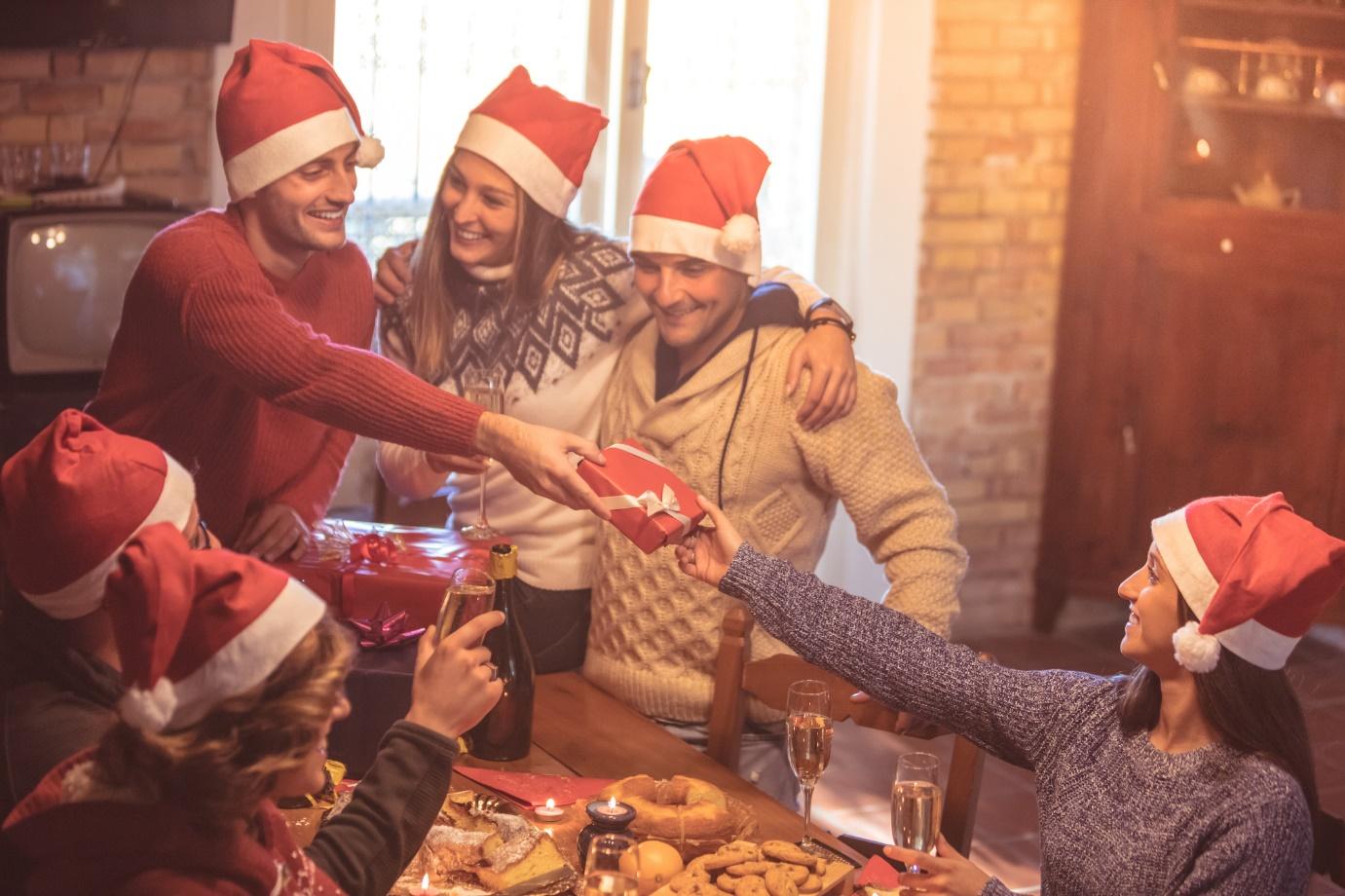flatmates doing secret santa